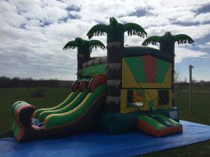 Dual Lane Tropical Bouncy Castle