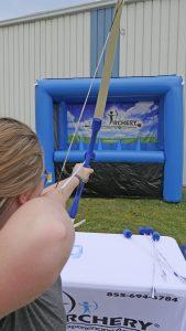 lining up an archery shot